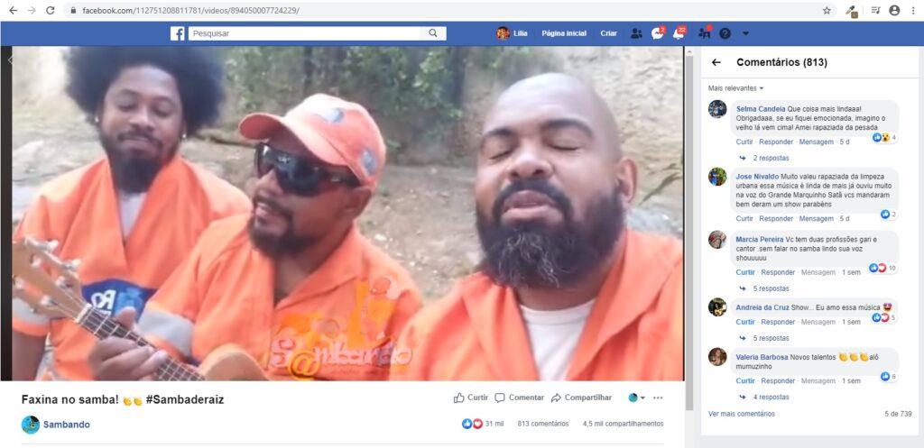 video lançado pelo Sambando no Facebook viraliza e promove sambistas garis
